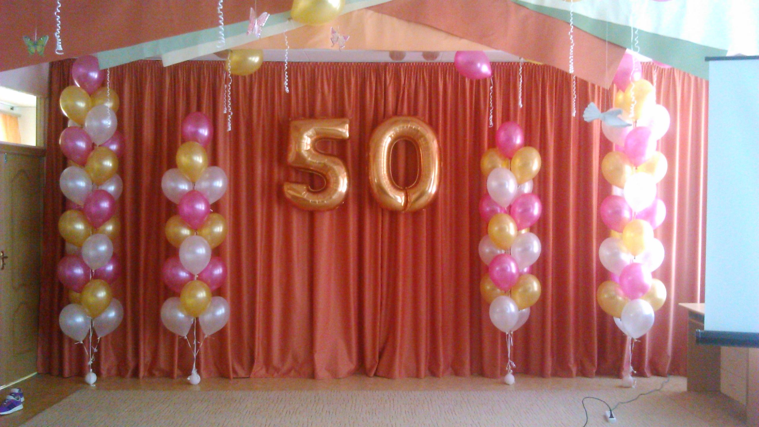 Украшения зала шарами на 30 лет фото